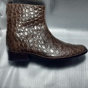 Febo of Portugal IOO%CROC LEATHER ANKLE BOOT 8